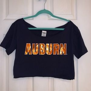 PINK Auburn University Crop Top - NWT